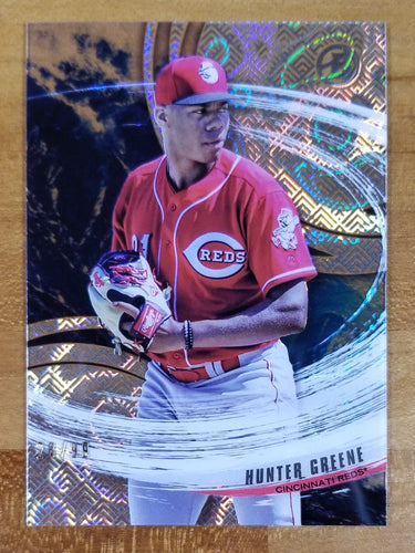Hunter Greene - 2018 Bowman High Tek Magma Diffractor 28/99 - Reds