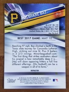 Shane Baz - 2017 Bowman's Best Purple Refractor 230/250 - Pirates/Rays