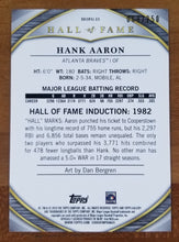 Load image into Gallery viewer, Hank Aaron - 2019 Topps Gallery Hall of Fame Green Parallel 69/250 - Braves