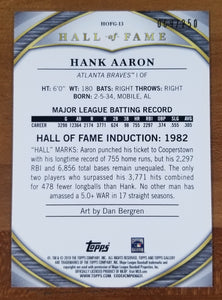 Hank Aaron - 2019 Topps Gallery Hall of Fame Green Parallel 69/250 - Braves