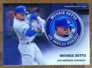 Mookie Betts - 2020 Topps Series 2 Player Medallion Relic TPM-MB - Dodgers