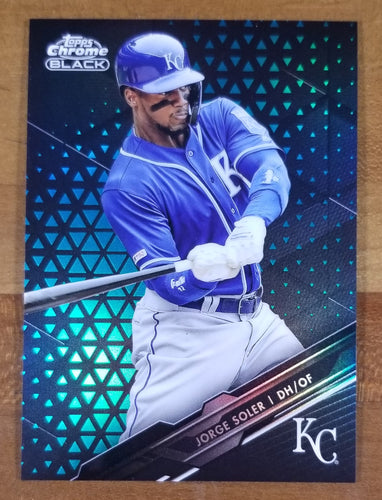 Jorge Soler - 2020 Topps Chrome Black Green Refractor 3/99 - Royals