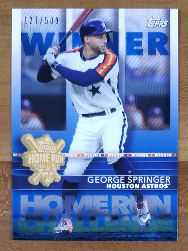 George Springer - 2020 Topps Home Run Challenge WINNER 127/508 - Astros