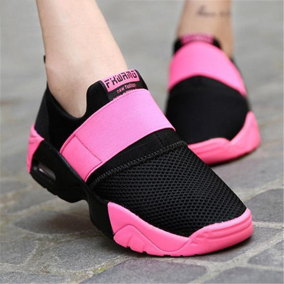 Invomall Breathable Outdoor Walking Jogging Women's Sneakers