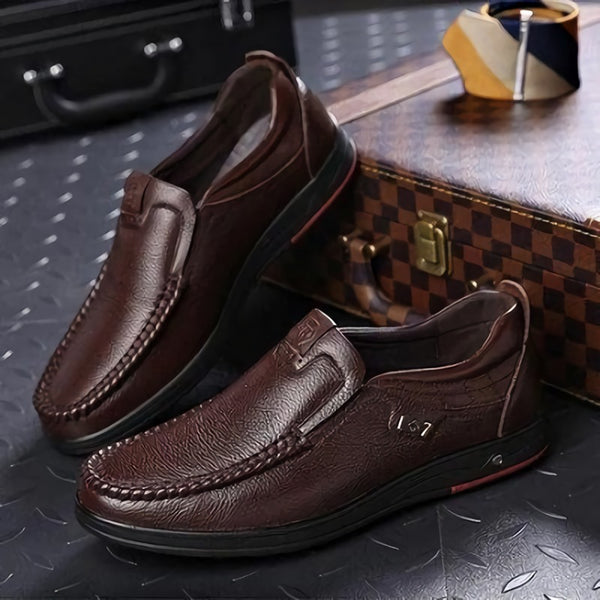 Invomall Men's Comfortable Leather Loafers