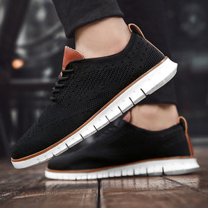 Invomall Lightweight Breathable Casual Knitted Mesh Men's Shoes