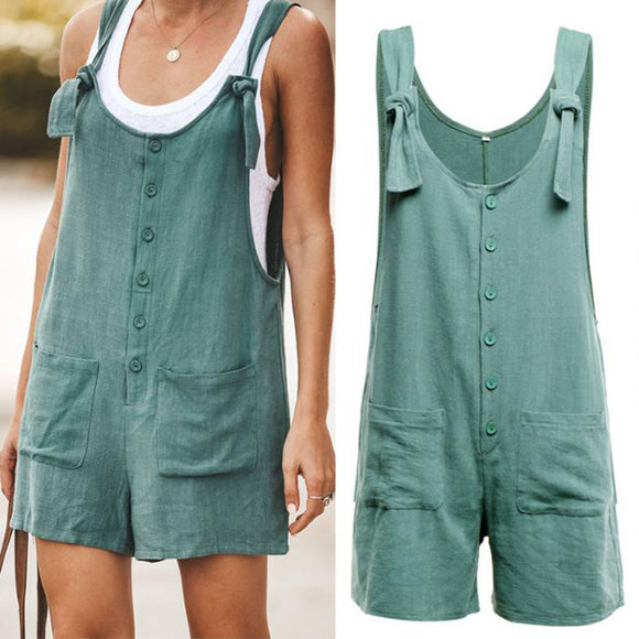 Invomall Women's Casual Short Romper