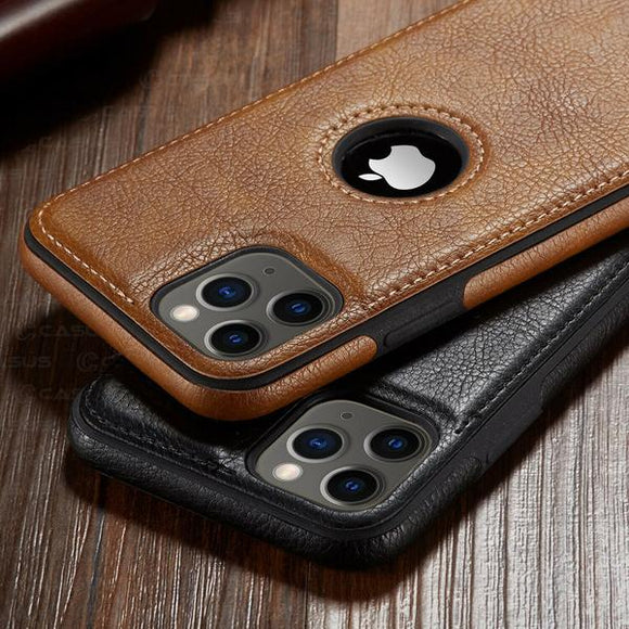 Invomall Retro Leather Stitching Case for iPhone