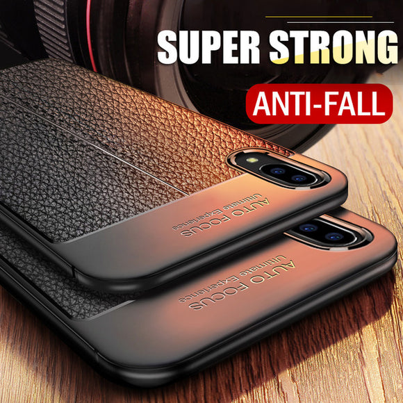 Invomall Luxury Litchi Leather Phone Case For iPhone