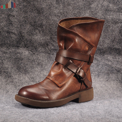 Invomall New Autumn Women's Winter Leather Boots