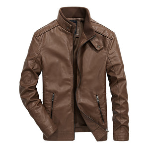 Invomall Men's Leather Jacket