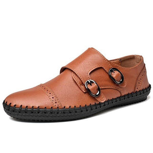 Invomall Men's Breathable Leather Loafers