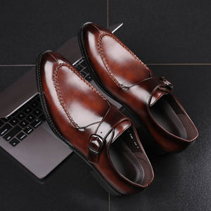 Invomall Men's Party Leather Dress Shoes