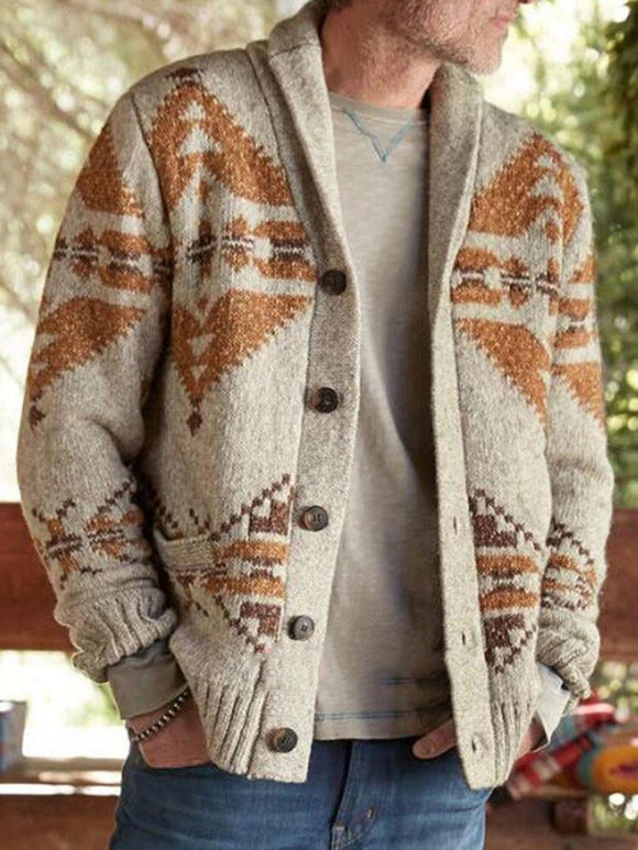 Invomall Men's Fashion Warm Cardigan Jacket Coat