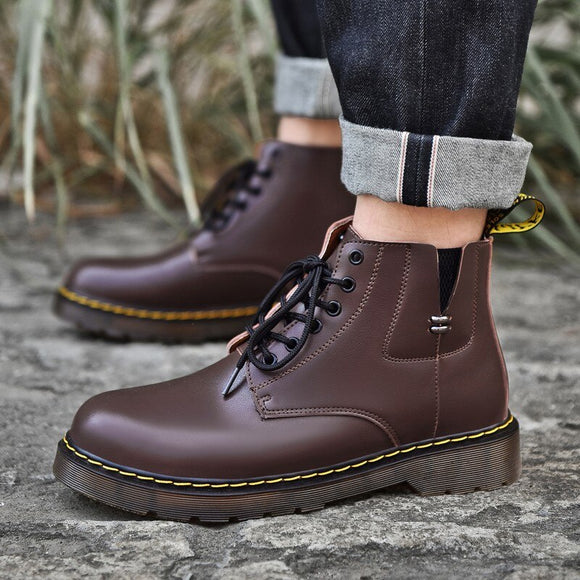 Invomall New British Style Waterproof Chelsea Boots