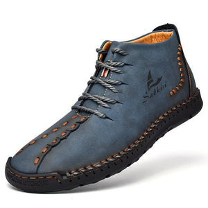 Invomall New Fashion Men's Handmade Leather Boots