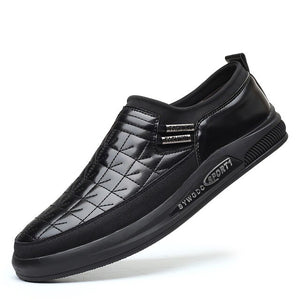 Invomall Men's Slip On Leather Business Formal Shoes