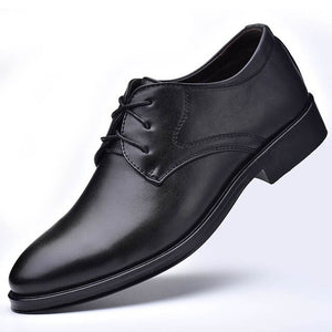 Invomall Men's Leather Business Dress Shoes