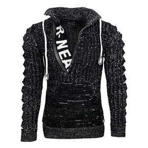 Invomall Men's Streetwear Casual Zipper Hoodies