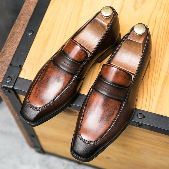 Invomal Men's High Quality Business Leather Shoes