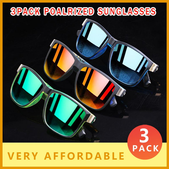 3 PACK Sport Style Super Light Polarized Sunglasses