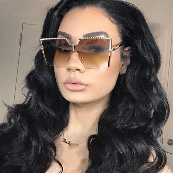 Sunglasses - High Quality Gradient Oversized Square Sunglasses