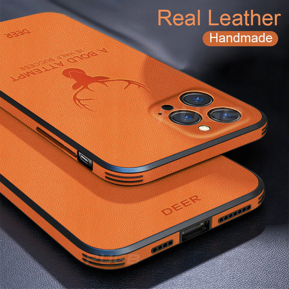 Invomall Luxury Leather Texture Shockproof Case For iPhone