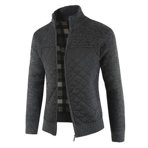 Invomall Men's Autumn Winter Warm Knitted Sweater Jackets Cardigan