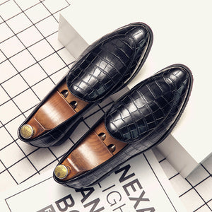 Invomall Men's Casual Oxfords Leather Moccasins