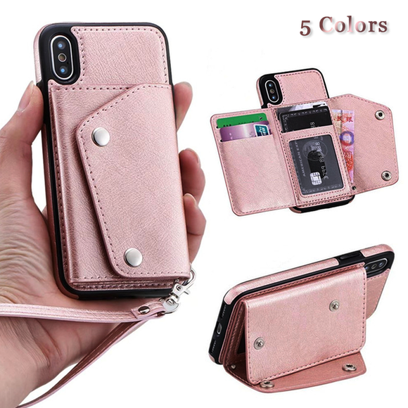 Invomall Wallet Flip PU Leather Case For iphone