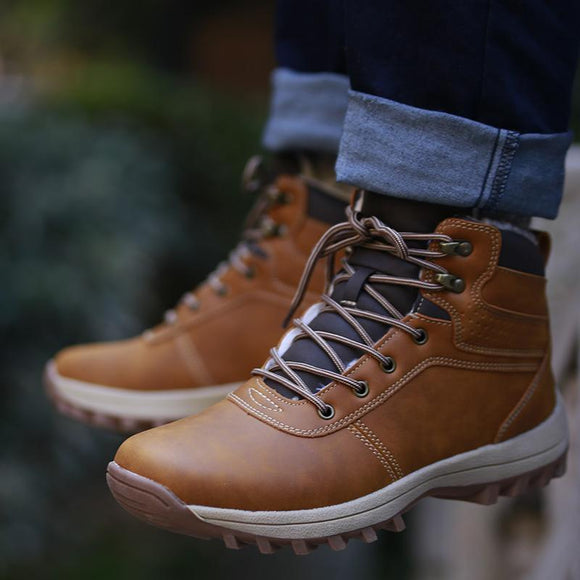 Invomall High Quality Autumn Winter Men's Casual Boots