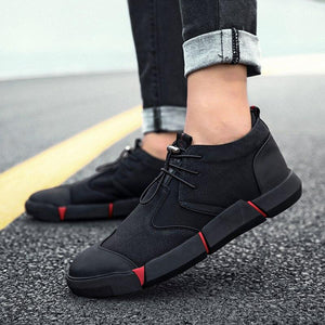 Invomall High Quality Fashion Men's Leather Casual Shoes