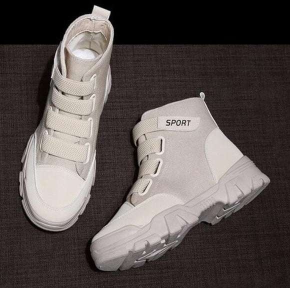 Invomall Autumn Winter Women's High Top Sneakers