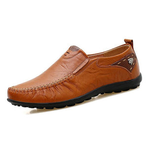 Invomall New Soft Leather Handmade Casual Men's Loafers