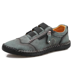 Invomall Men's Genuine Leather Fashion Casual Shoes