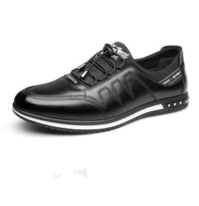 Invomall Men's Fashion Casual Leather Shoes