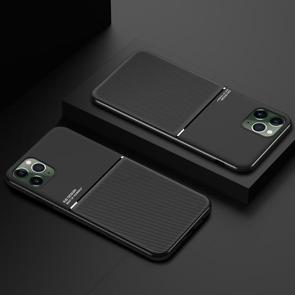 Invomall Luxury Car Magetic Leather Texture Case For iPhone