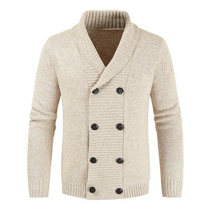 Invomall Men's Woolen Sweater Cardigan