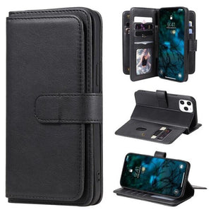 Invomall Luxury Flip Leather Wallet Case For iPhone