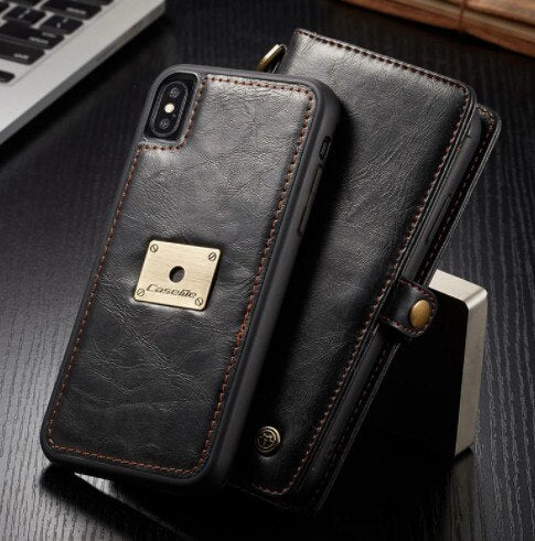 Invomall Luxury Flip Genuine Leather Case for iPhone