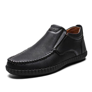 Invomall Men's Leather Fashion Casual Shoes