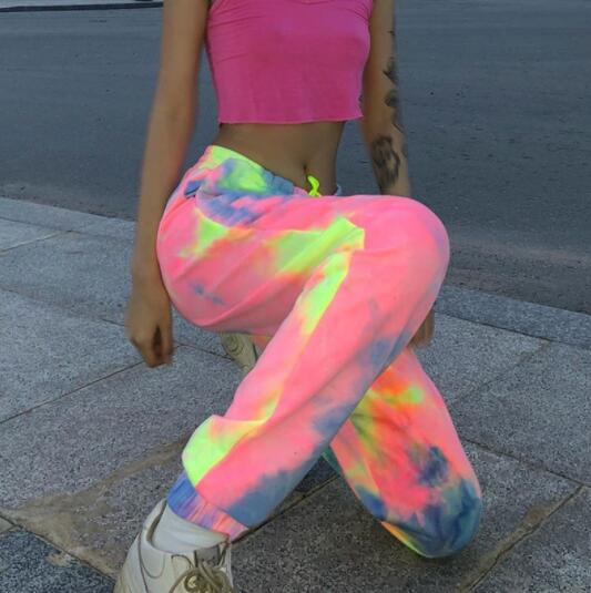 Invomall Colorful High Waist Pants
