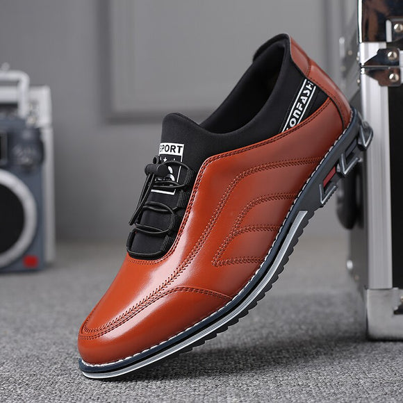 Invomall Fashion Men's Shoes Leather Loafers