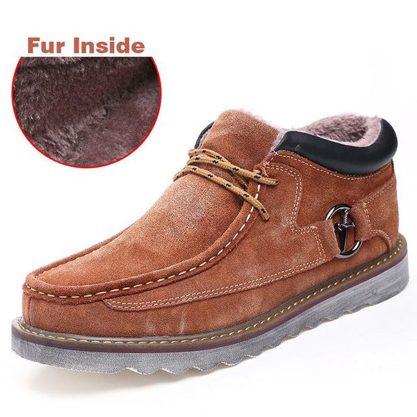 Shoes - Fashion Retro Men's Genuine Leather Casual Boots(Buy 2 Got 5% off, 3 Got 10% off Now)