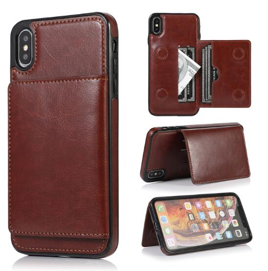 Invomall Retro PU Leather Card Slot Case For iPhone