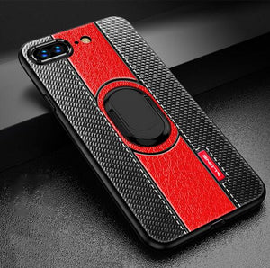 Phone Case - Luxury Magnetic Suction Bracket Finger Ring Case For iPhone 7/8/Plus/X/XR/XSMax