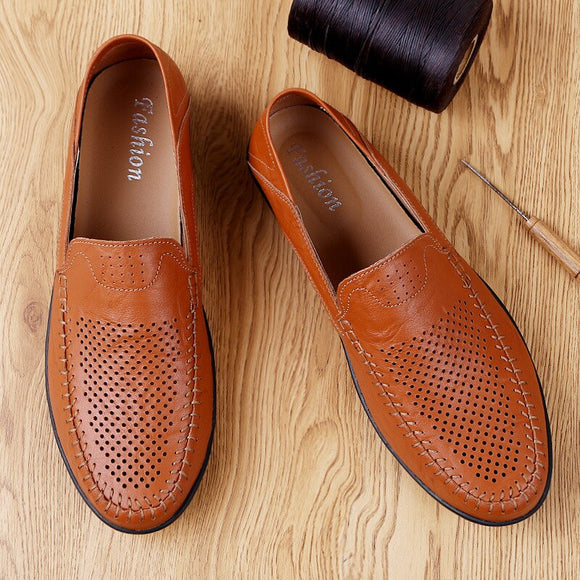 Invomall Genuine Leather Casual Shoes