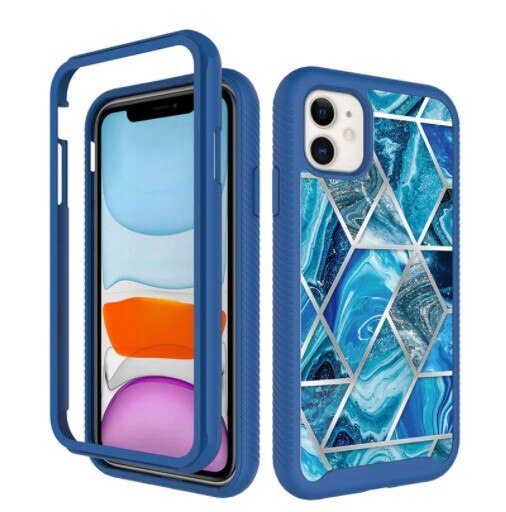 Invomall Geometric Marble Anti-slip Phone Case For iPhone