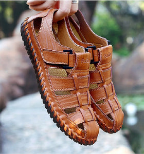 Invomall Summer Men's Genuine Leather Sandals