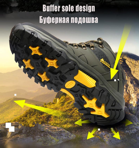 Invomall High Quality Waterproof Leather Hiking Boots